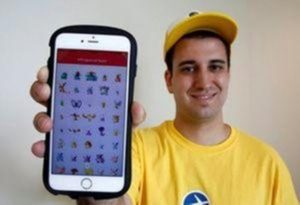 "Nick Johnson, the first person to beat ""Pokemon Go"" and capture all 145 Pokemon, poses with his mobile phone showing Pokemon characters he captured in Tokyo, Japan, August 8, 2016. REUTERS/Kim Kyung-Hoon"
